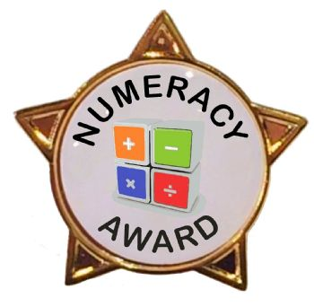 NUMERACY AWARD star badge
